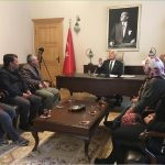 İkizköylüler, MUÇEP'ten temsilcilerle birlikte Osman Gürün'ü ziyaret etti